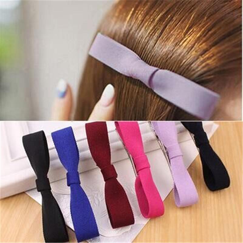 2016 European and American female hair accessories Pure fabric bow headband hair accessories hairpin(China (Mainland))