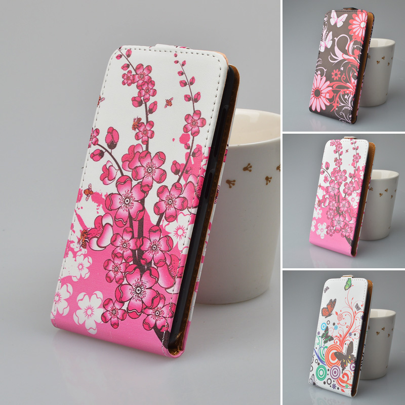 Luxury Flip Leather Case Cover For Nokia Microsoft Lumia 535 Phone Bags with Printing 5 Colors(China (Mainland))