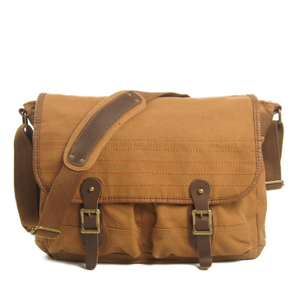 2015 Fashion Men Messenger Bag Casual Shoulder Bag High Quality Genuine Leather Canvas Bag Men Bags(China (Mainland))