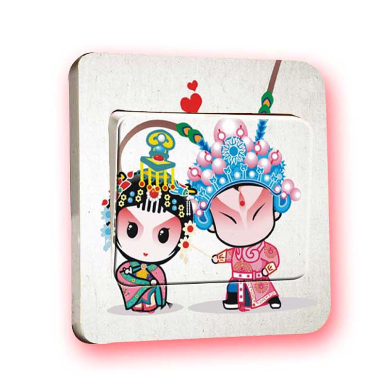 Hot selling Art removeable PVC DIY wallpaper wholesale creative switch panel sticker wall sticker Decoration Wall Decal S003 *30