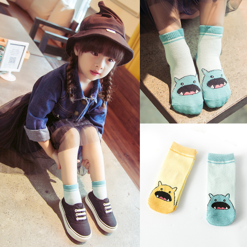 children socks Korea autumn cartoon girl boys cotton socks C719(China (Mainland))
