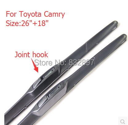26 18 car wiper blade for camry 2012 2013 soft rubber windshield wiper blade wiper arm free. Black Bedroom Furniture Sets. Home Design Ideas