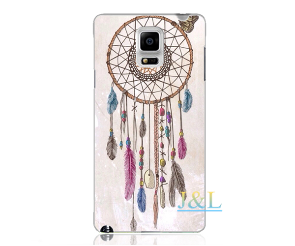 Dreamcatcher porcelain Hot emboss UV print hard phone case for samsung galaxy S3 S4 S5 S6 note 2 3 4 A5 A7 S4mini back cover(China (Mainland))