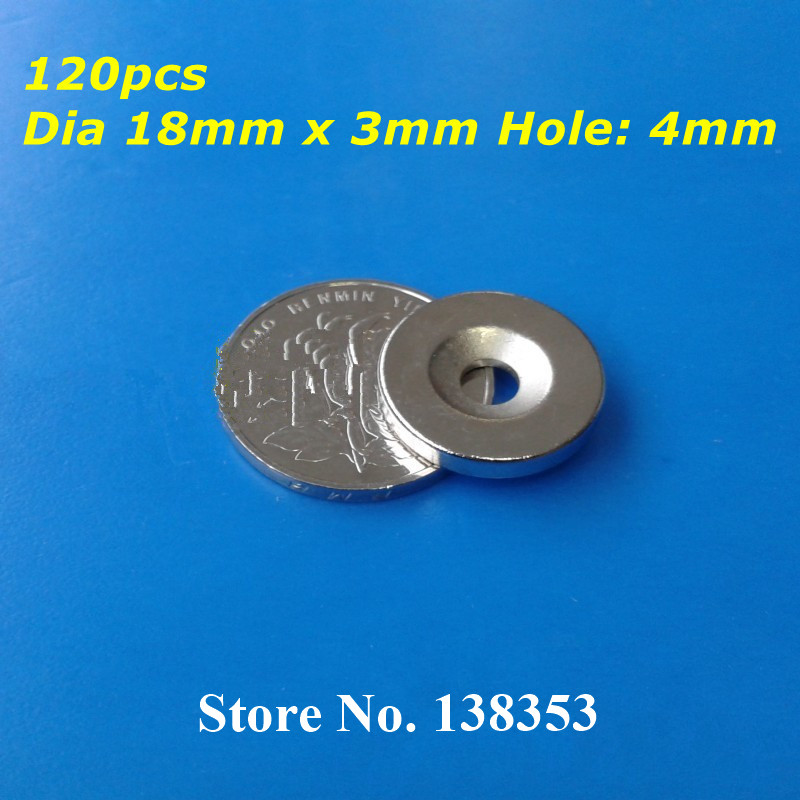 Wholesale 120pcs Super Strong Neodymium Countersunk Ring Magnets Dia 18mm x 3mm With Hole 4mm N35 Rare Earth NdFeB Magnet<br><br>Aliexpress