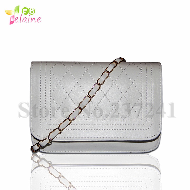 2015HOT!Women's Handbag women messenger bags Candy color chain shoulder bag women leather handbags wholesale(China (Mainland))