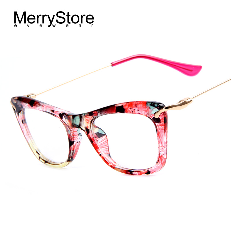 Metal Glasses Frames Women AMANKEI Fashion Cat Eye