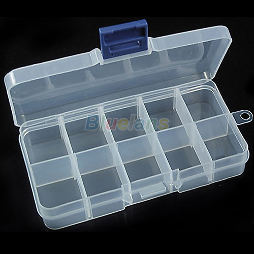 New Storage Case Box 10 Compartment for Nail Art Tips Sundeies Jewelry(China (Mainland))