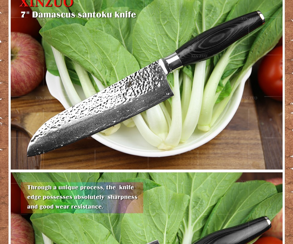 Buy 3 PCS kitchen knives set Japanese VG10 Damascus kitchen knife sets 5+7+8 inch utility chef knife Micarta handle FREE SHIPPING cheap