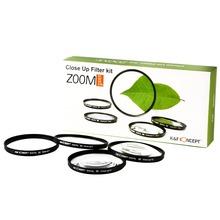 Cámara Digital de 62 mm Macro Close UP 1 + 2 + 4 + 10 Kit para Nikon Canon 62 lente envío gratis 025