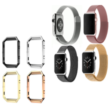 High quality stainless steel metal frame shellv for Fitbit flame smart watch shell for Apple watch shell