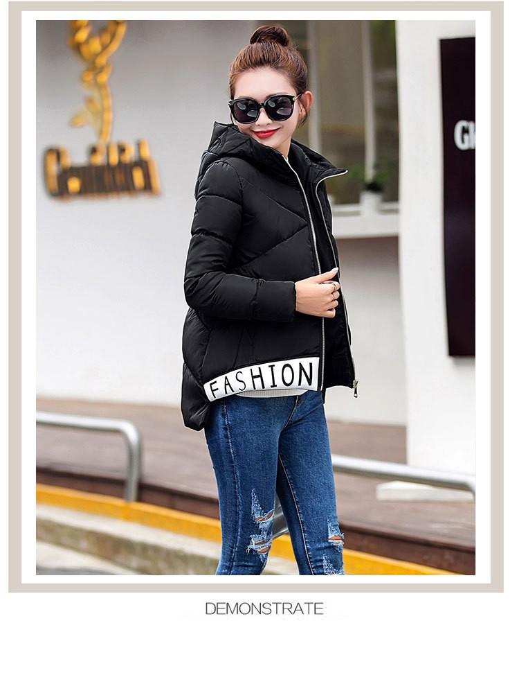 Скидки на Европы 2016 Осень Зима Новый Женщины Хлопок вниз Пальто куртки Мода Капюшоном воспитать в себе мораль согреться Большой ярдов пальто G1570