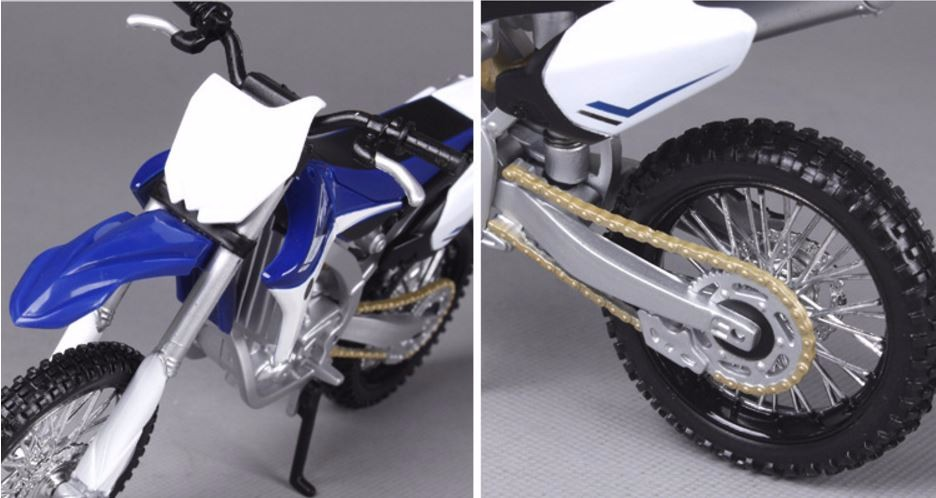 1:12 Original Mini Yamaha 450F Motorcycle Models Diecast 17*6*9cm Metal Diecast Models Blue with White for Gifts and Decoration
