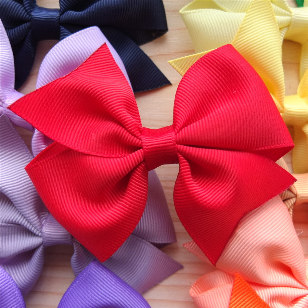 40 Colors Available 3.5 Inch Hair Bow Hair clip Hairpins Boutique hair accessories School Hair Bows Infant Toddler Baby girl bow