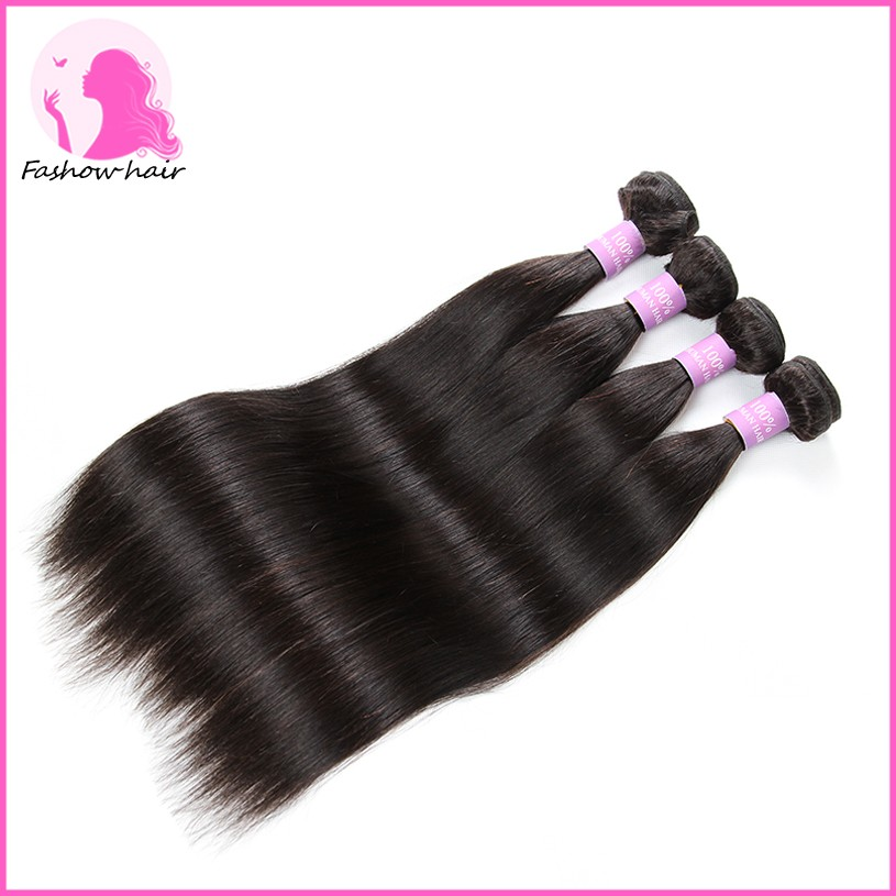 8A Brazilian Virgin Straight Hair With Closure  100% Unprocesed Human Hair 3 Bundles With Closure Rosa Brazilian Virgin Hair