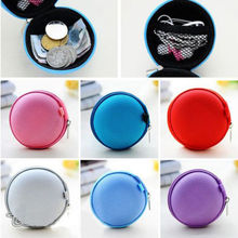 Hot 2014 New Women & Kids Oval Mini Coin Ellipse Personality Canvas Clutch Bag Wallets headphones Purses Fashion Wallets Handbag(China (Mainland))