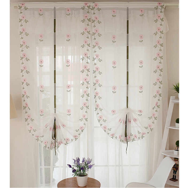 2016 Cafe Kitchen Curtains Voile Window Blind Curtain Owl: Aliexpress.com : Buy Top Finel 2016 Hot Tulle For Window Roman Curtain Blinds Embroidered Voile