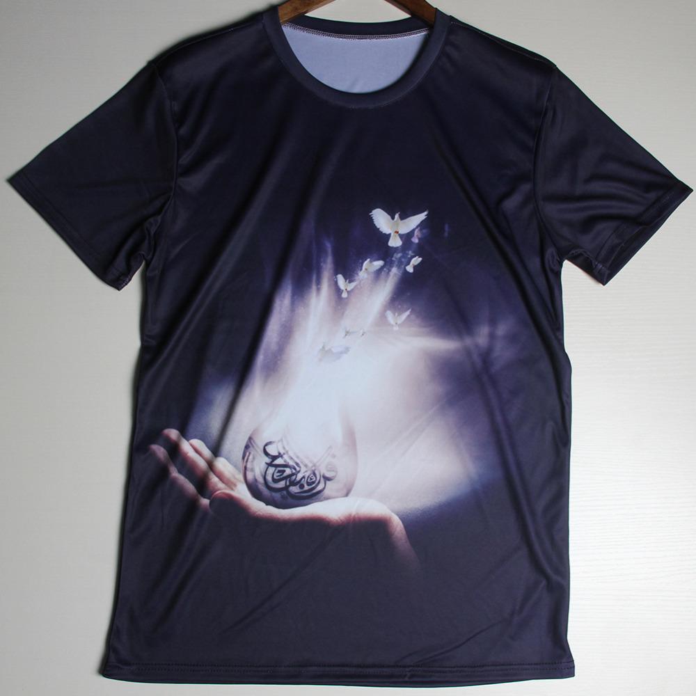 Advanced T shirt Men The Doves Winged Skyward 3D Print Style Men's T-shirts Casual Short Sleeve Top Tees(China (Mainland))