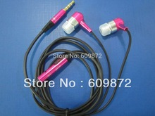 Metal Earbuds with inline Microphone , 4-conductor plug for cellphones,3000pcs/lot  Fedex shipping(China (Mainland))