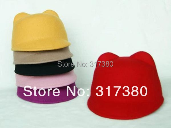 Wholesale 2015 Quality Baby Winter Derby Wool Hats Boys Autumn Bowler Hat Girls Felt Cap Children Spring Fedoras Infants Caps(China (Mainland))