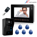 Luxury 9 TFT screen door intercom RFID doorbell camera video porteiro door phone wired door camera