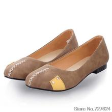 Flats Adult shoes woman 44 43 42 Large yard PU New 2016 34-45