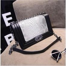 Fashion Ladies luxury PU Leather Handbags shoulder bags for woman brand Vintage Plaid Hasp Chain women