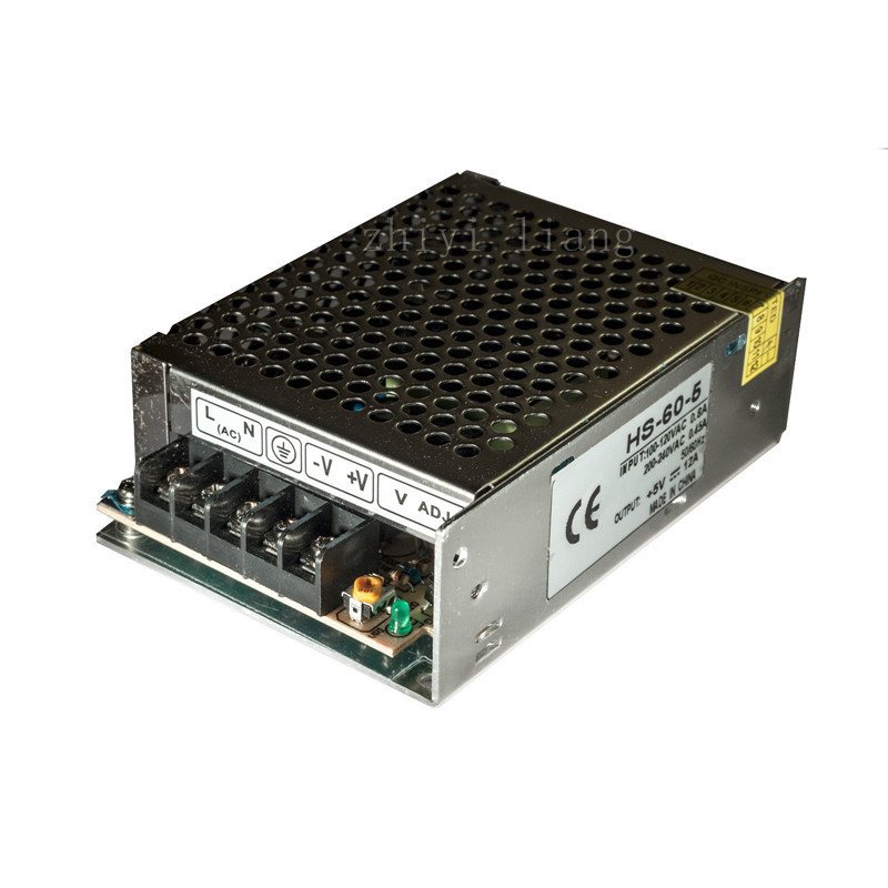 Switching Power Supply Unit 120/240VAC LED Strips Pixels CCTV PSU,output 5V 12A(China (Mainland))