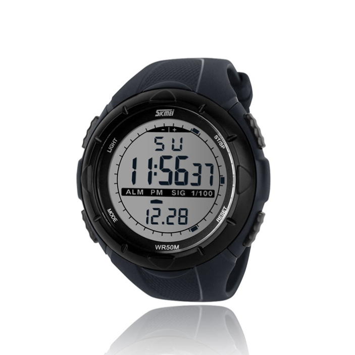 Splendid Top Quality Design Black Men LED Digital Military Watch Dive Swim Watches Outdoor Sports Wristwatches