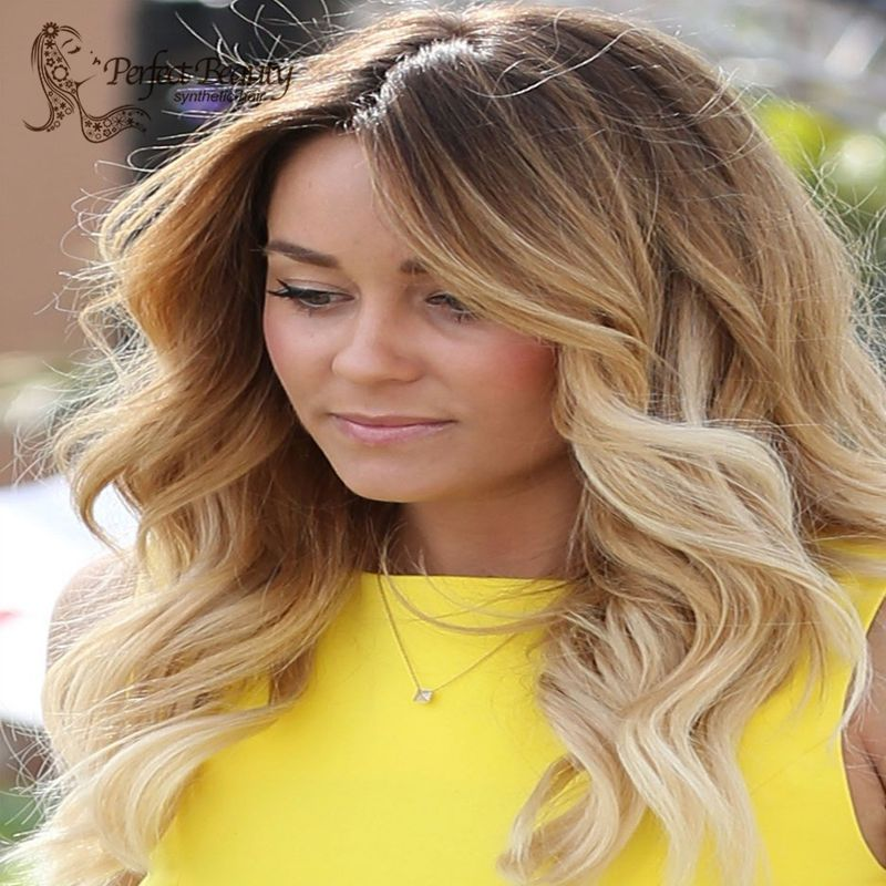 613 Ombre Lace Wig Synthetic Lace Front Wig Heat Resistant Dark to Blonde Hair Long Blonde Wig Best Quality Cheap Wig<br><br>Aliexpress