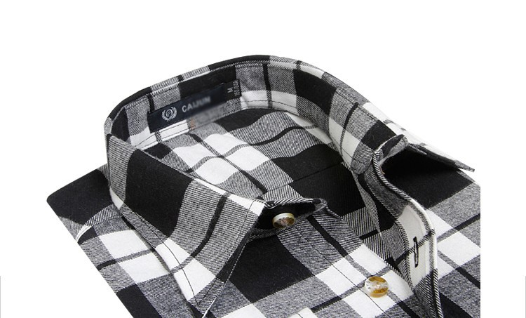 Men's Long Sleeve Plaid Shirts Flannel (2)