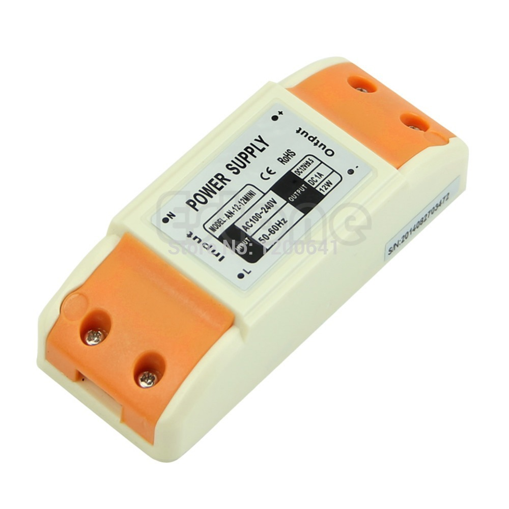 M89 Free Shipping New 12W Power Supply Driver Transformer for LED Strip Lights DC 12V 1A(China (Mainland))