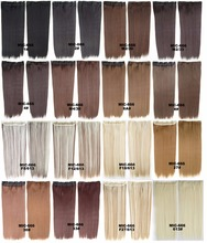 60 Cm 100g Women Synthetic Hair Extension Long Straight Brown Blonde Natural 5 Clip In Hair Extensions Hair Hairpiece 20 Colors(China (Mainland))