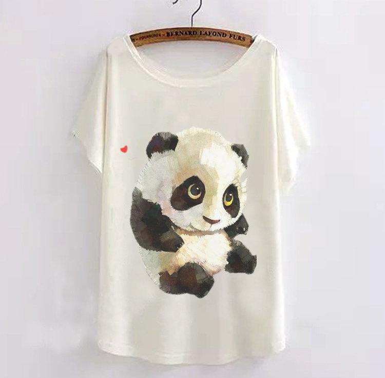Женская футболка mikeal] 2015 Batwing t panda женская футболка 2015new mikeal] 2015 t batwing tshirt camisetas 2015tt