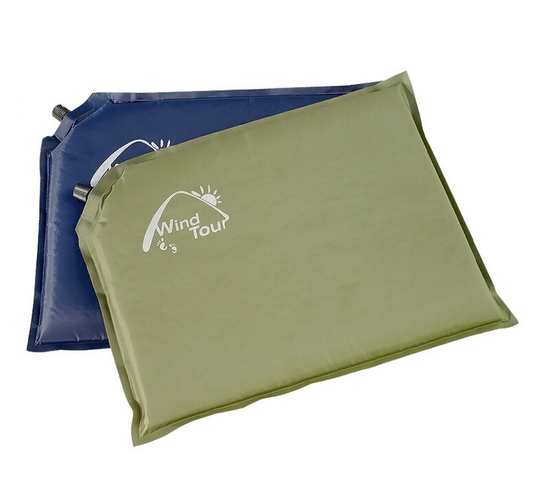 2ps/Lot,Newest outdoor camping automatic inflatable mat,outdoor portable moisture-proof pad,a single cushion 40*30,Free shipping(China (Mainland))