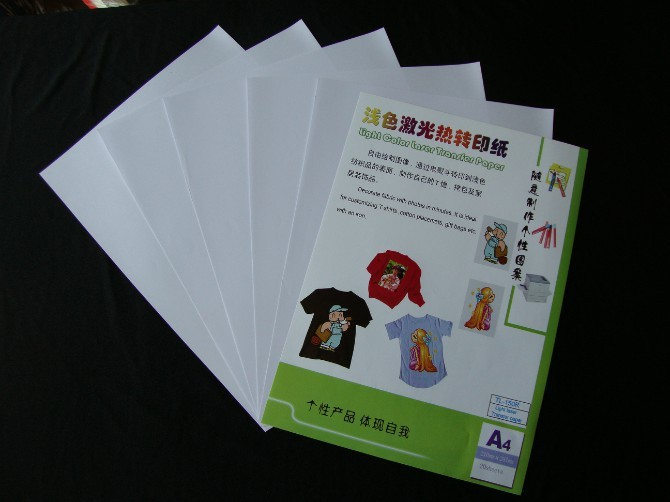 (A4*10pcs) the best Color laser heat transfer paper for Light Fabrics, can used on any fabrics even 100% cotton TL-150R(China (Mainland))