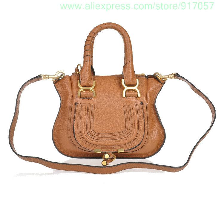 mini fashion marcie bag genuine leather tote handbag shoulder bags 28cm(China (Mainland))