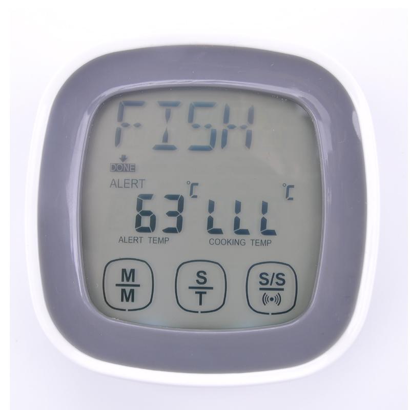 Free shipping, digital display food thermometer, touch screen food thermometer, BBQ fork thermometer(China (Mainland))