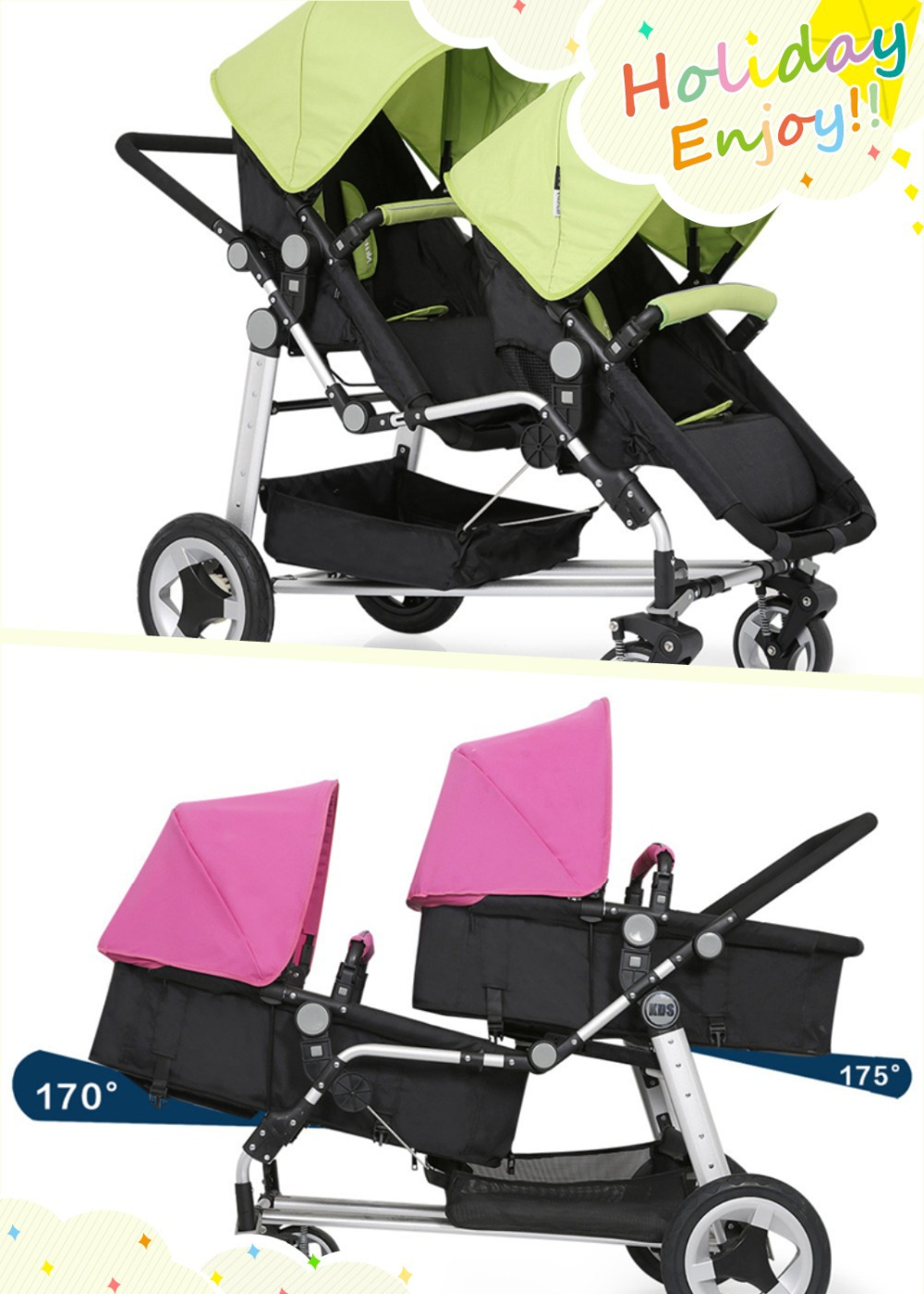 Cart bearing higher Stroller with sleeping basket height model To make it stronger cart stability Cars For Twins<br><br>Aliexpress