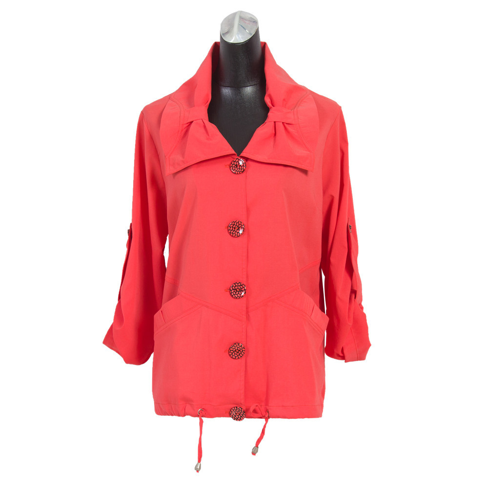 01-64#small MOQ orange Middle age women whistles plus size coats primark butterfly monsoon