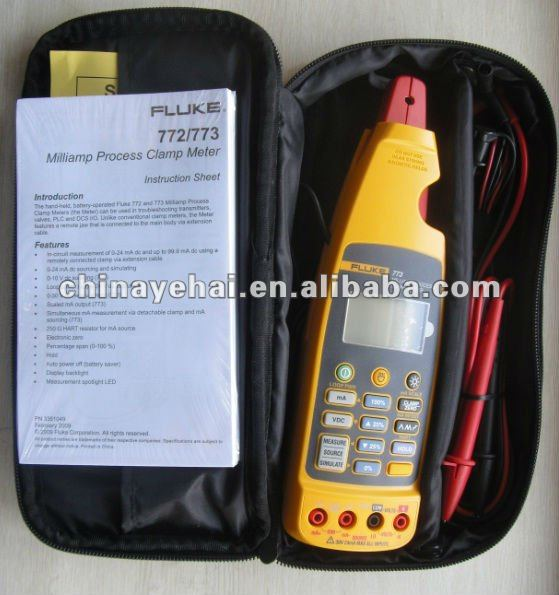 100% Authentic Fluke 773 0.01mA Resolution and High Accuracy Fluke 773 Milliamp Process Clamp Meter F773(China (Mainland))