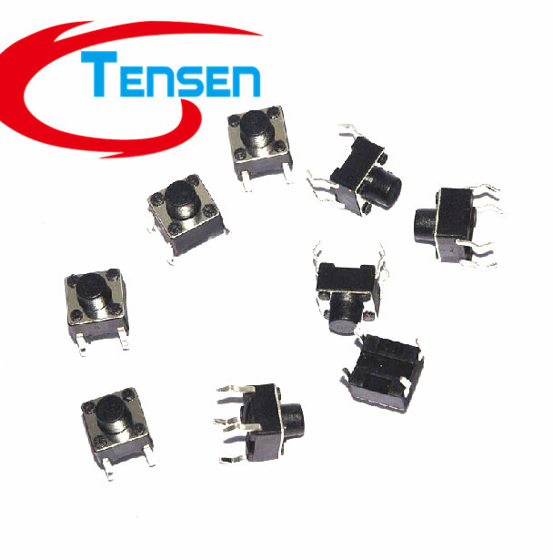 100Pcs/lot  6x6x6mm DIP 4Pins Tactile Tact Push Button Micro Switch Momentary 6*6*6mm<br><br>Aliexpress