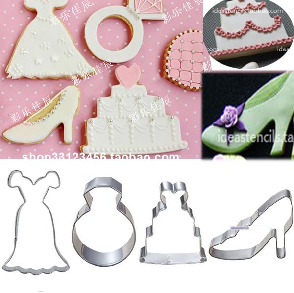 Shoe cookie cutter biscuits mold wedding cake stencil wedding dress