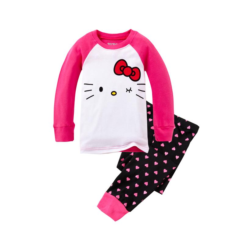 2016 Autumn Kids Clothes Sets Fashion 2pcs Sets Body Suit Hello Kitty Baby Girls Clothing Sets Shirt +Pants Girls Costumes(China (Mainland))