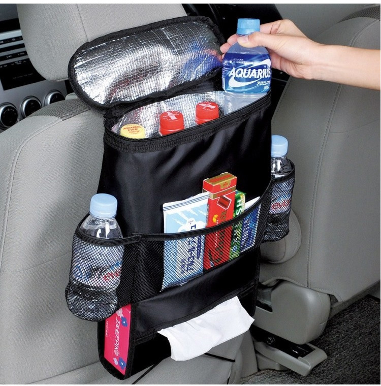 Insulated Car Back Seat Organizer Drink Food Storage Cover Container Automobiles Auto Interior Bags styling Accessories Supplies(China (Mainland))