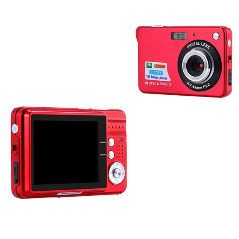 "Mini 2.7"" TFT LCD Digital Camera 18MP HD 720P 8x Zoom Camcorder Anti-Shake Micro Camera Video CMOS Sensor USplug Black/Red/White(China (Mainland))"
