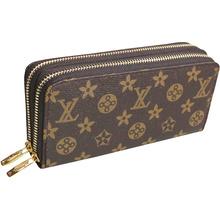 Frauen Doppel-Reißverschluss leder brieftasche lange damen herren marke designer Luxus handtasche walet armband kupplung portefeuille femme gw0149(China (Mainland))