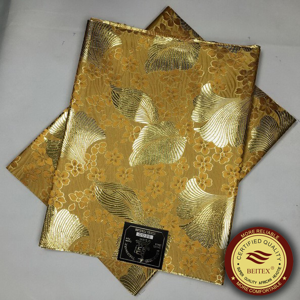 High Quality African Headtie,Gold Sego Headtie Fabric,Super Jubilee Wholesale and Retail Fashion Design African Fabric(China (Mainland))