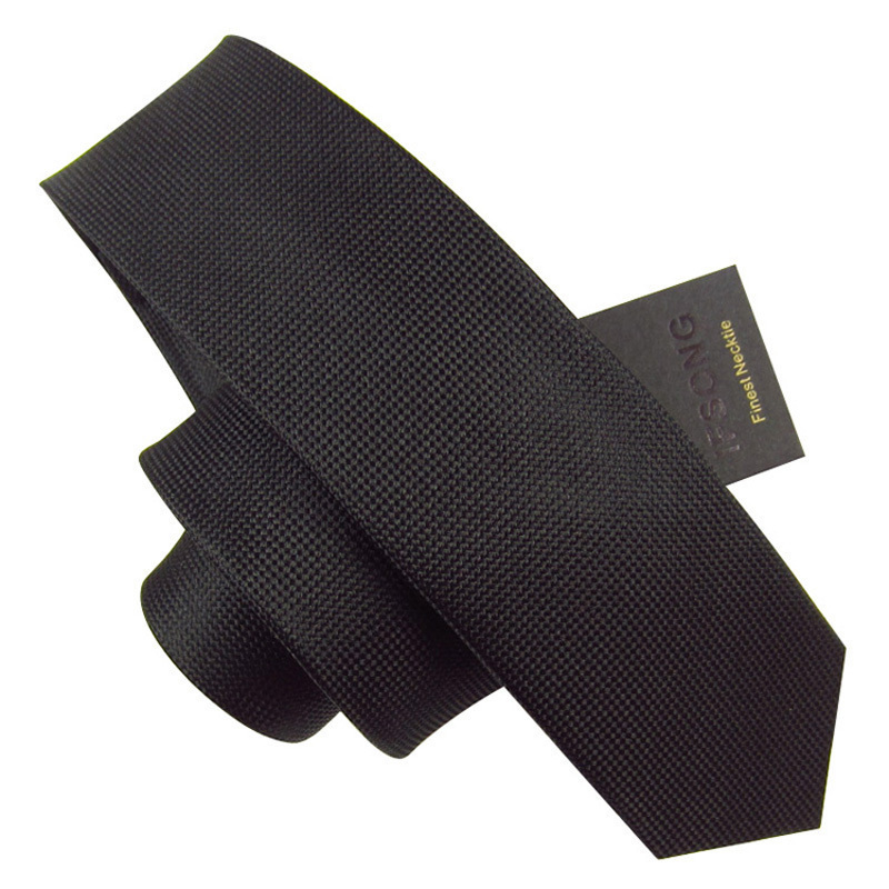 5.5cm solid color secret pocket casual male tie silk tie ifsong 033