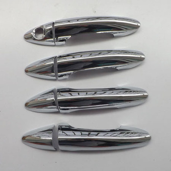 Free shipping For hyundai solaris accent 2010 2014 door handle cover ABS Chrome 8pcs car accessories