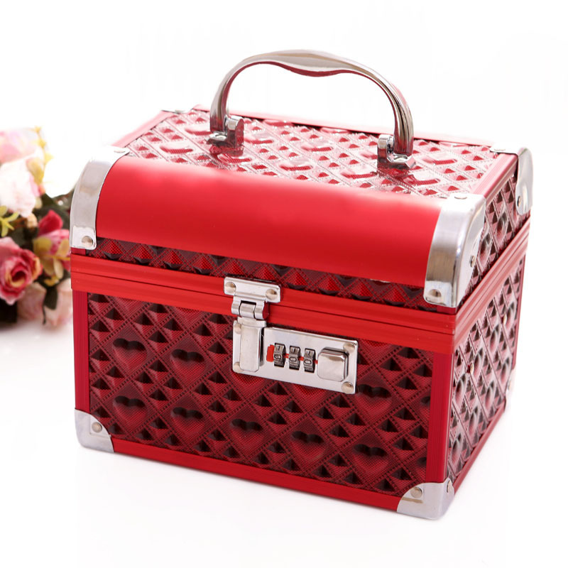2015 China style wedding decoration upscale jewelry box with lock jewelry box cosmetic box packaging gift box(China (Mainland))